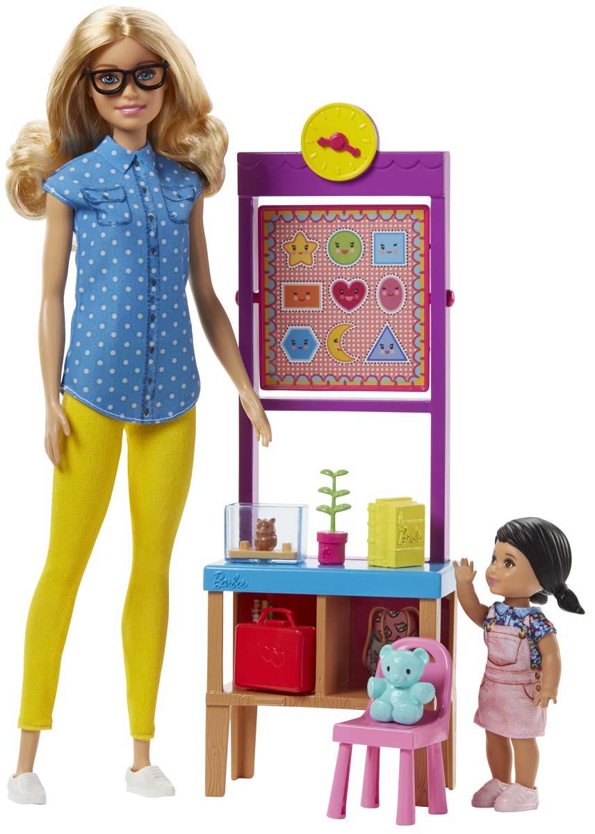 Barbie Игровой набор с куклой Учитель DHB63_FJB29 barbie игровой набор с мини куклой video game hero