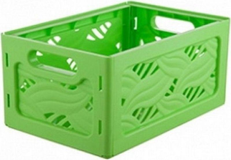 Корзина для хранения Berossi Flavia, цвет: салатовый, 24 х 16 х 11 см корзина для хранения альтернатива вдохновение цвет салатовый 26 5 х 16 5 х 10 см