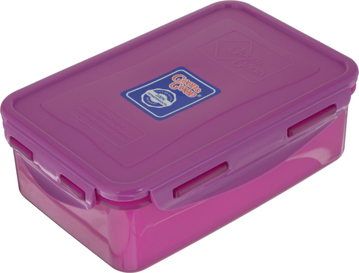 Контейнер пищевой Good&Good, цвет в ассортименте, 1,1 л контейнер пищевой good