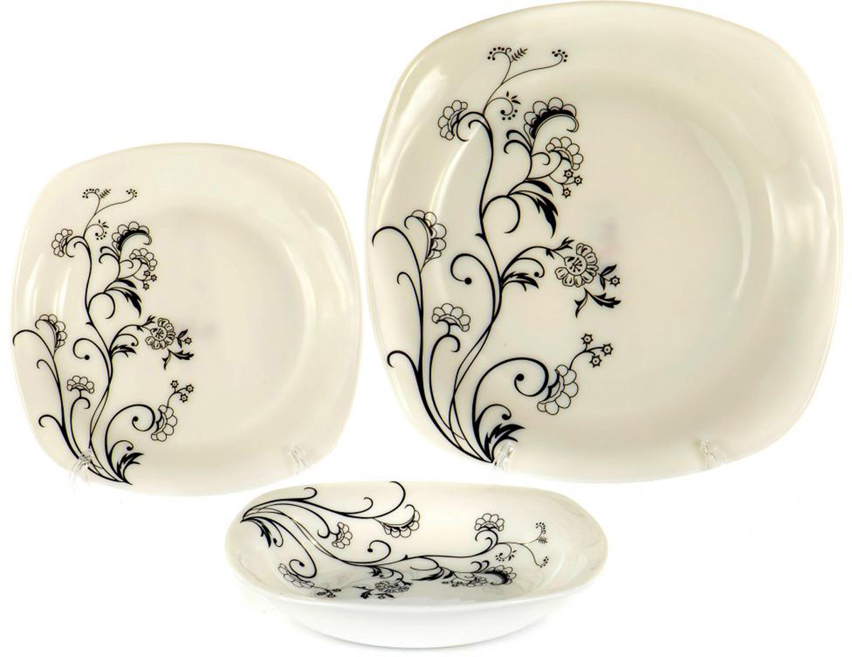 Набор тарелок Olaff Черный стебель, 18 шт набор чайный olaff красный стебель 12 предметов