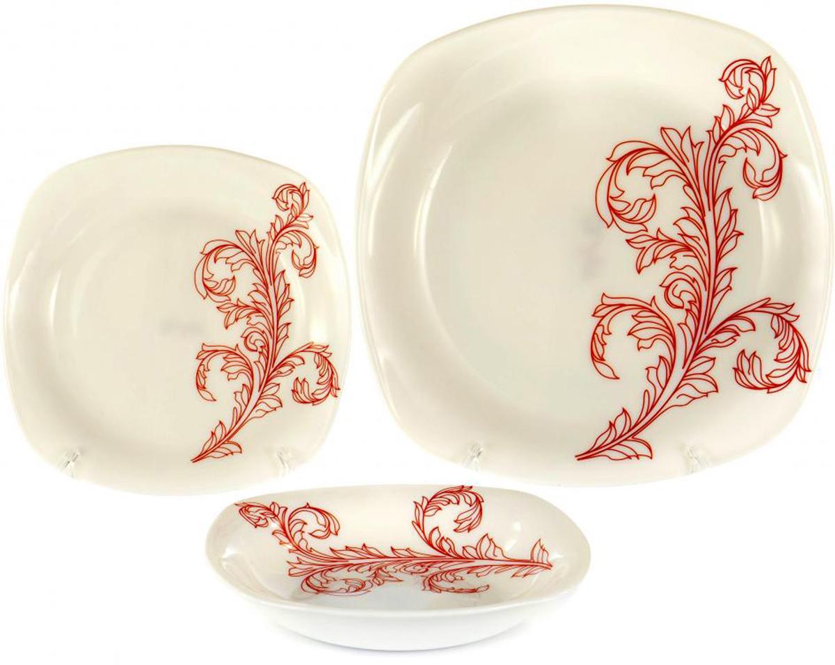 Набор тарелок Olaff Красный стебель, 18 шт набор чайный olaff красный стебель 12 предметов