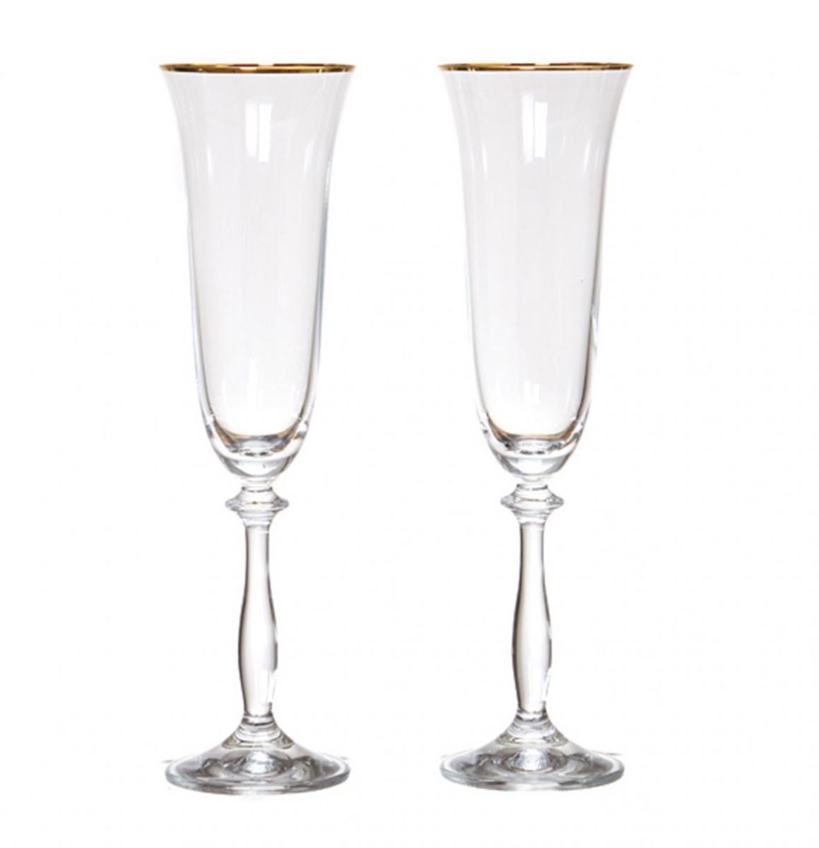 Набор бокалов для шампанского Bohemia Crystal Анжела, 190 мл, 2 шт. 40600/20787/190/2 набор бокалов для шампанского bohemia crystal оливия 190 мл 6 шт