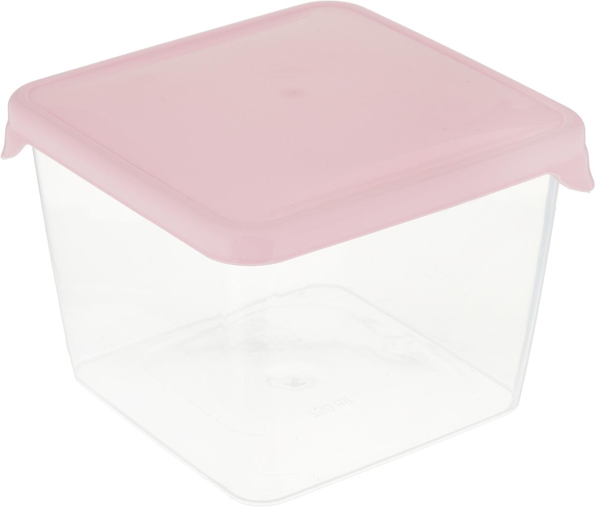 Емкость для продуктов Giaretti Браво, цвет: прозрачный, розовый, 750 мл емкость для продуктов giaretti браво цвет белый прозрачный 900 мл gr1068