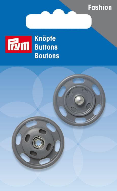 Набор кнопок Prym, цвет: серый, 25 мм, 2 шт