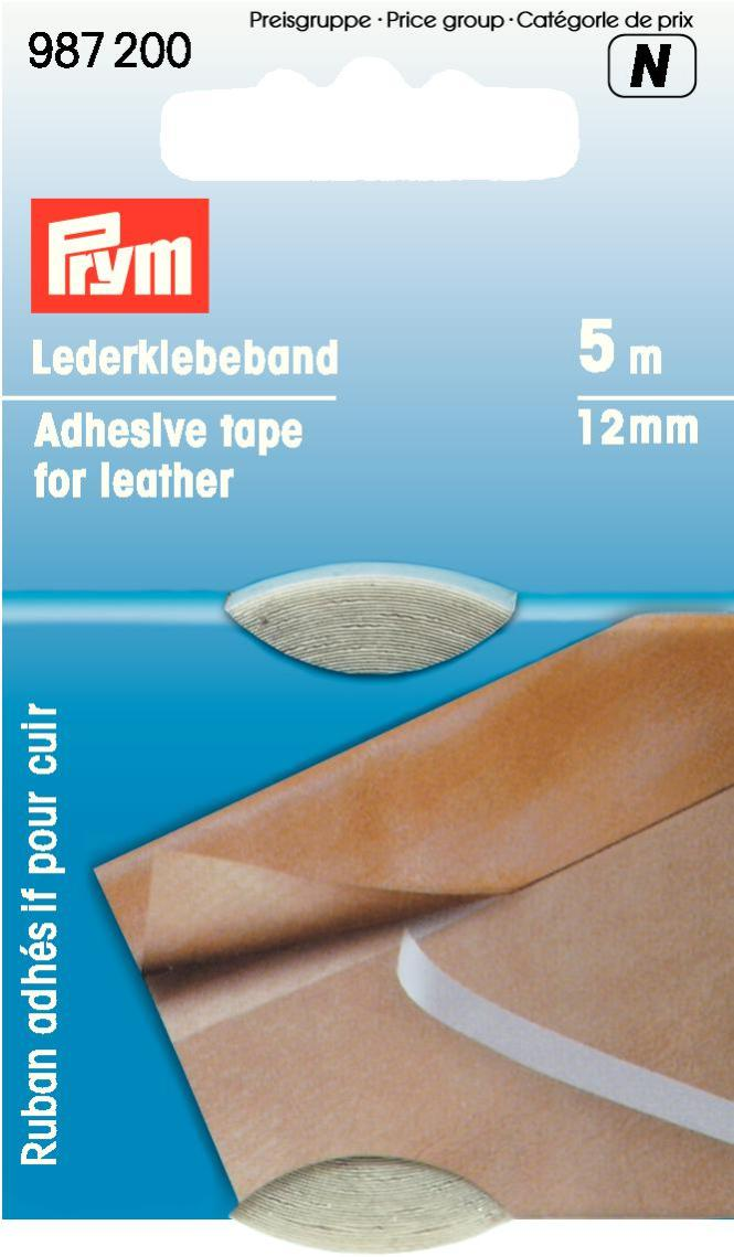 Лента клеящая Prym, для кожи, 12 мм лента клеящая на креп бумаге 38мм 20м