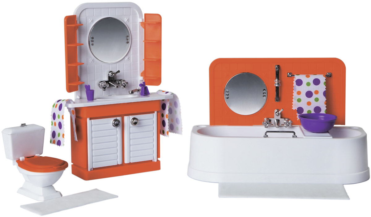 Sima-land Мебель для кукол Ванная комната Конфетти цвет белый оранжевый sima land мебель для кукол кухня 452179
