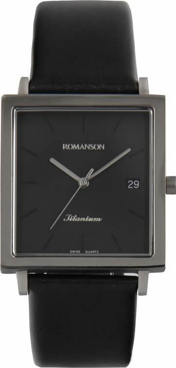 цена Часы наручные мужские Romanson, цвет: черный. DL2133SMW(BK) онлайн в 2017 году
