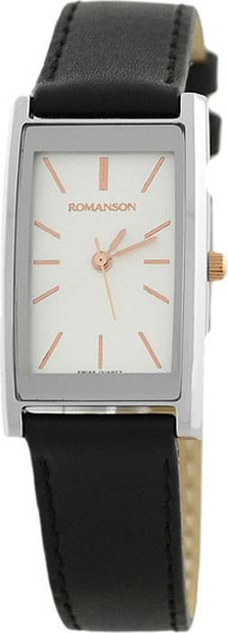 Часы наручные женские Romanson, цвет: черный. DL2158CLJ(WH) все цены