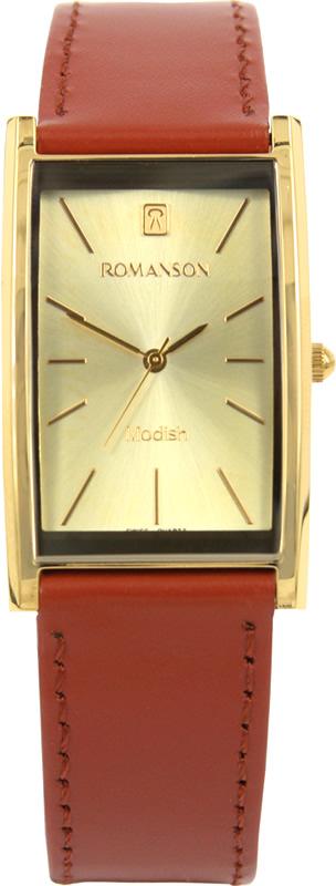 Часы наручные мужские Romanson, цвет: кирпичный. DL2158CMG(GD) все цены