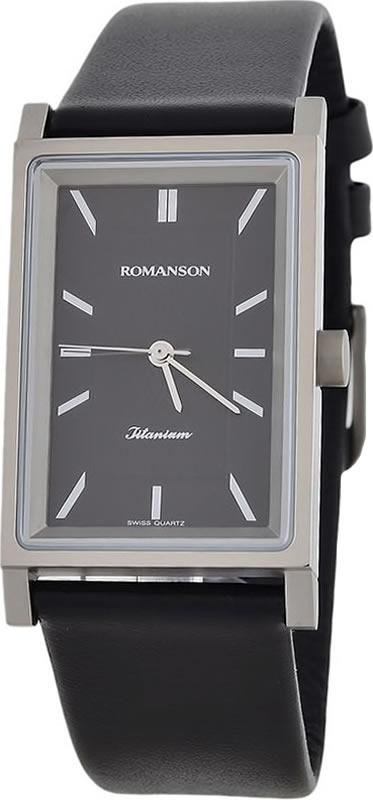 Часы наручные мужские Romanson, цвет: черный. DL4191SMW(BK) все цены