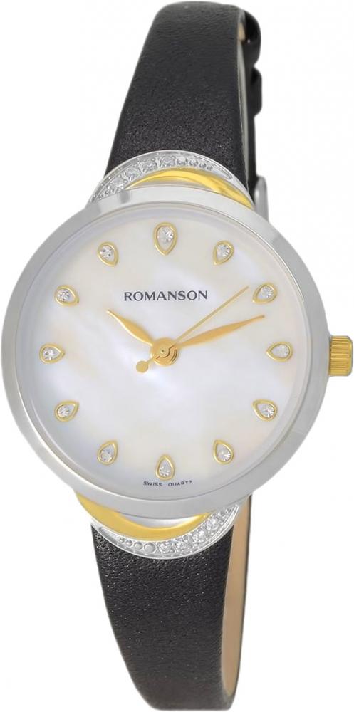 Часы наручные женские Romanson, цвет: черный. RL4203QLC(WH) все цены