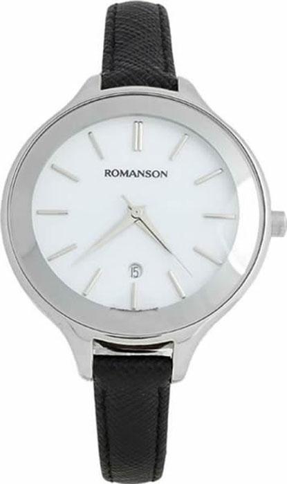 Часы наручные женские Romanson, цвет: черный. RL4208LW(WH)BK все цены