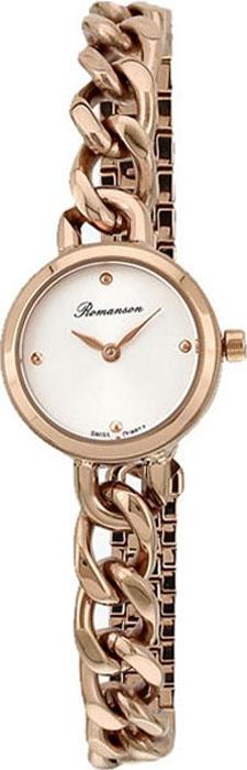 Часы наручные женские Romanson, цвет: золотистый. RM4242LR(WH) все цены