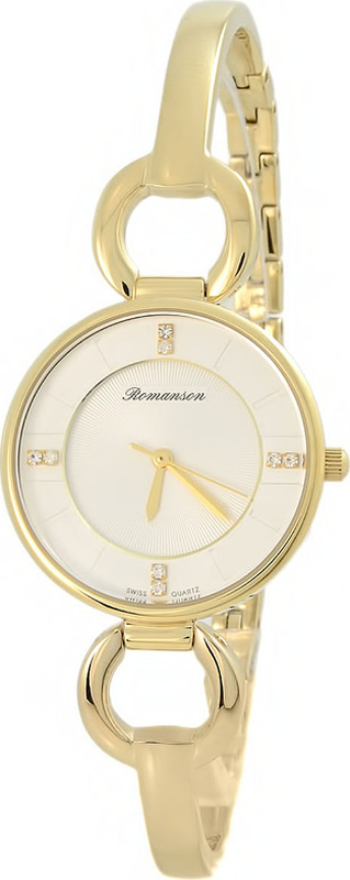 Часы наручные женские Romanson, цвет: золотистый. RM7A04LLG(WH) все цены