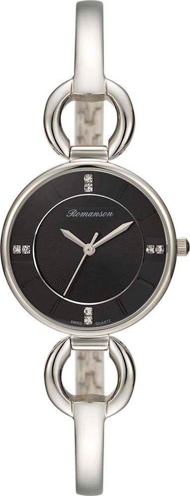 лучшая цена Часы наручные женские Romanson, цвет: серебристый, черный. RM7A04LLW(BK)