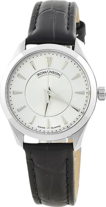 Часы наручные женские Romanson, цвет: черный, белый. TL0337LW(WH) все цены