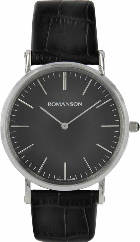 Часы наручные мужские Romanson, цвет: черный. TL0387MW(BK) все цены