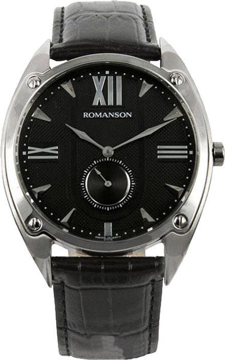 Часы наручные мужские Romanson, цвет: черный. TL1272JMW(BK)BK все цены