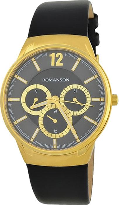Часы наручные мужские Romanson, цвет: черный. TL4209FMG(BK) все цены