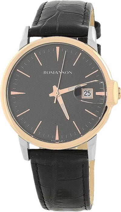 Часы наручные мужские Romanson, цвет: черный. TL4227MJ(BK) все цены