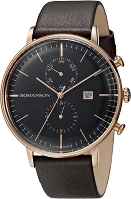Часы наручные мужские Romanson, цвет: черный. TL4264FMR(BK) все цены