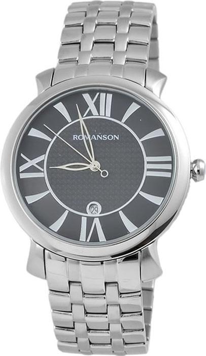 Часы наручные мужские Romanson, цвет: черный. TM1256MW(BK) все цены