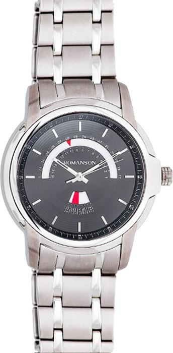 лучшая цена Часы наручные мужские Romanson, цвет: серебристый. TM6A21CMW(BK)