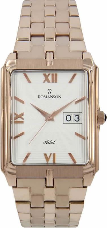 Часы наручные женские Romanson, цвет: золотистый. TM8154CXR(WH) все цены
