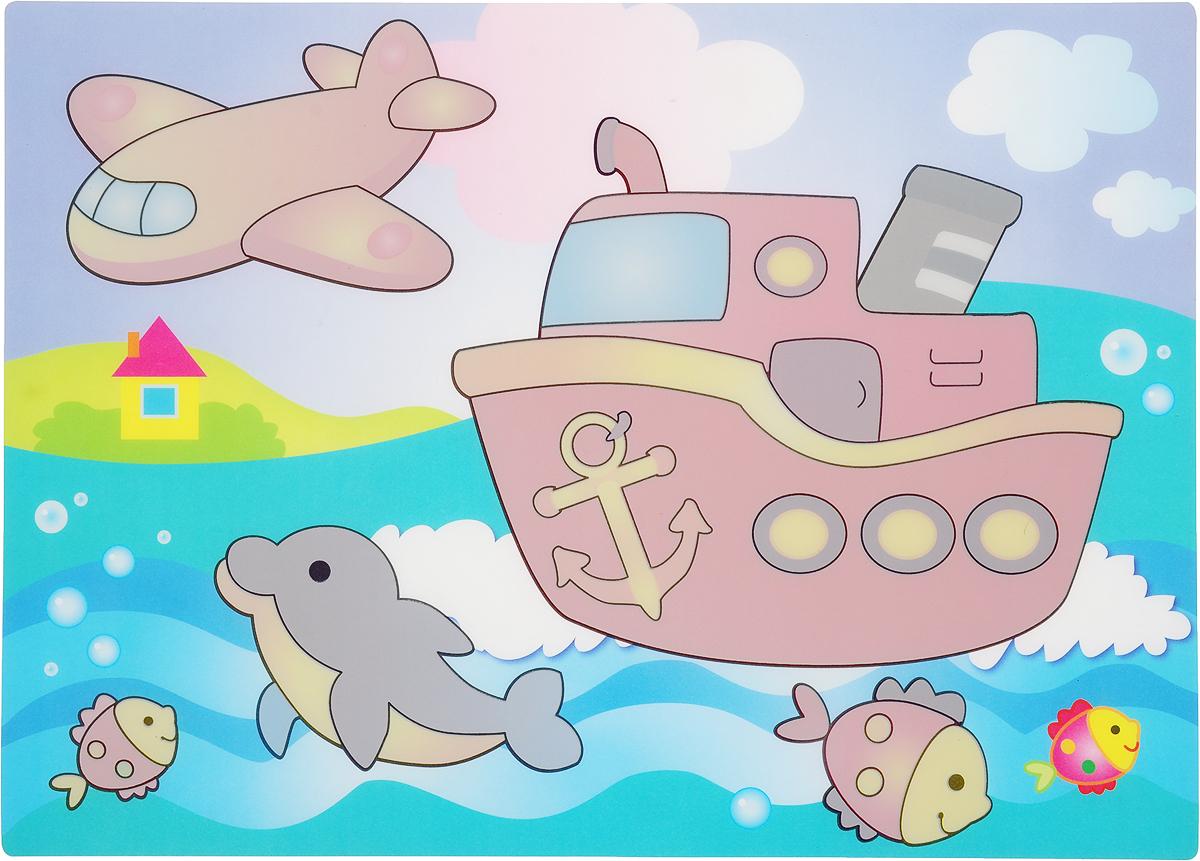 Кораблик. Многоразовая водная раскраска водная многоразовая раскраска мишка