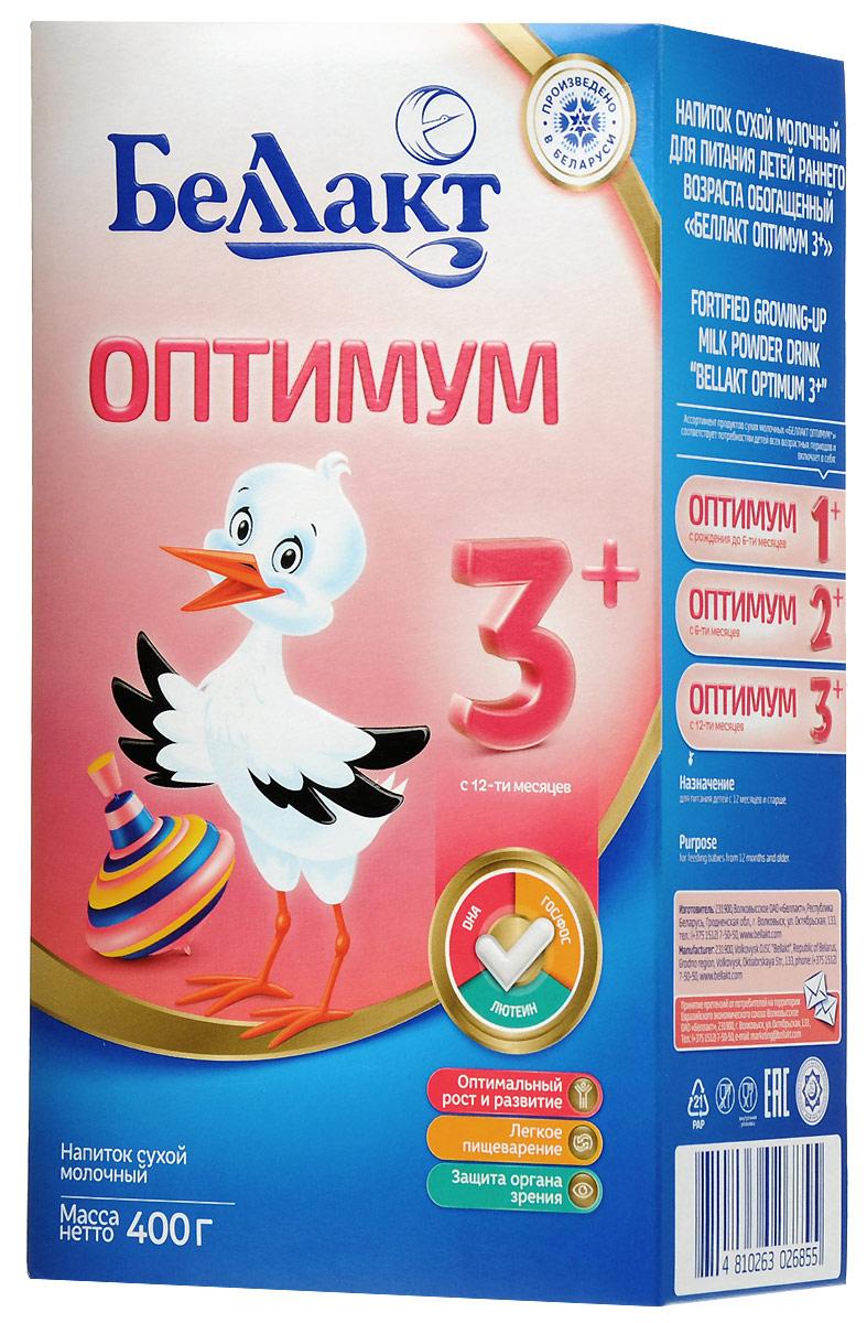 Беллакт Оптимум 3+ смесь молочная сухая с 12 месяцев, 400 г беллакт плюс смесь молочная сухая с 12 месяцев 400 г
