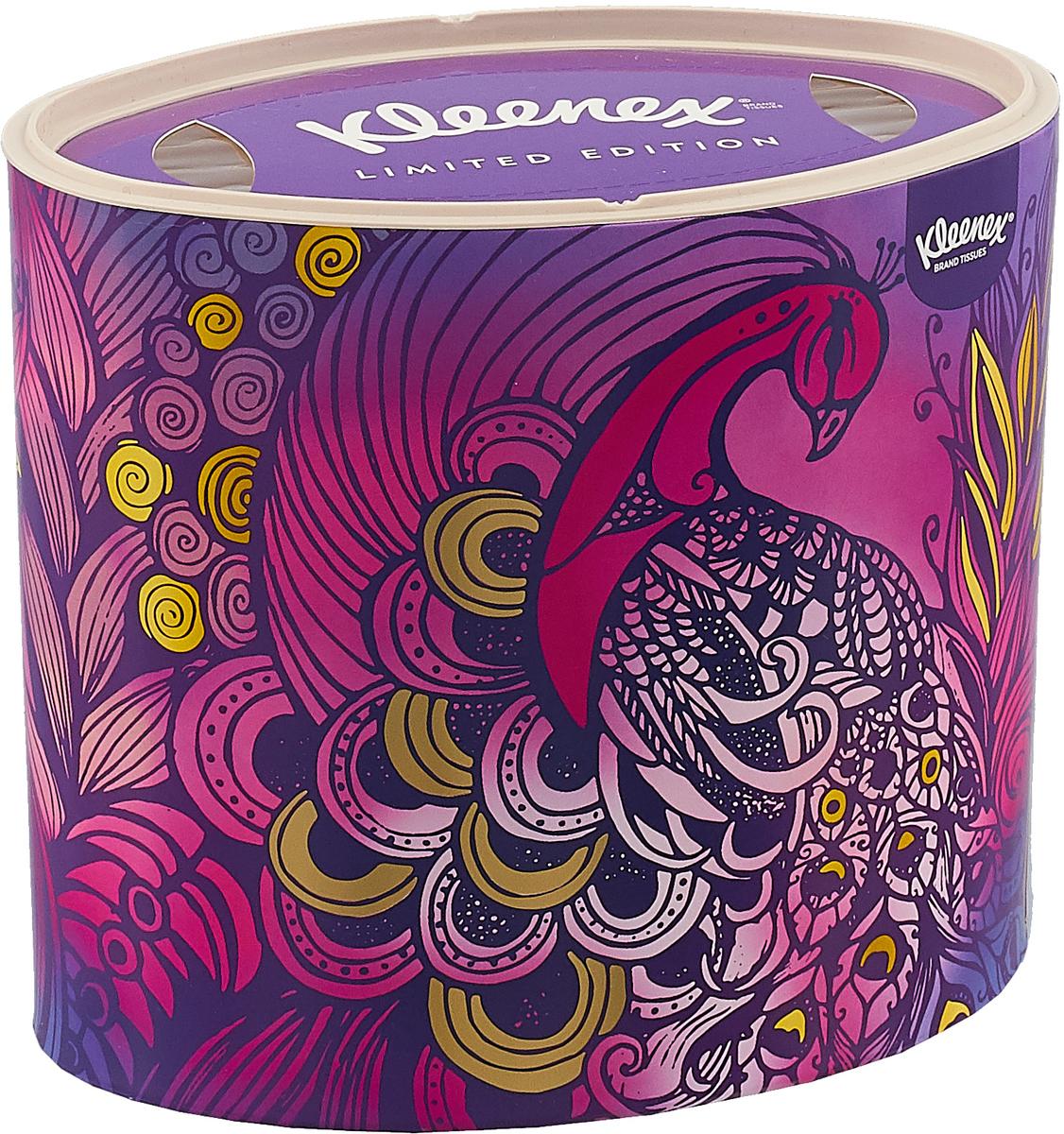Kleenex Бумажные салфетки Decor, универсальные, цвет: фиолетовый, 64 шт салфетки kleenex family 150 шт