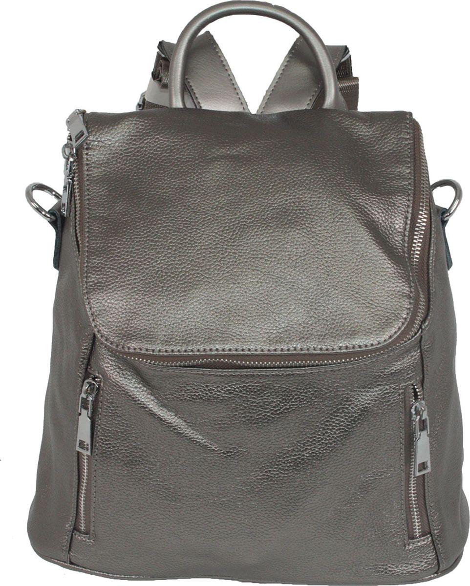 Рюкзак женский Flioraj, цвет: серый. 7661 silver рюкзак женский flioraj цвет серый 9806 1605 106