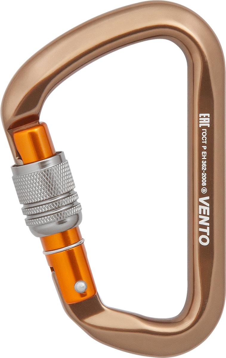 Карабин скалолазный Vento Большой-люкс, с муфтой keylock карабин скалолазный vento лайт со скобой цвет фиолетовый 9 см