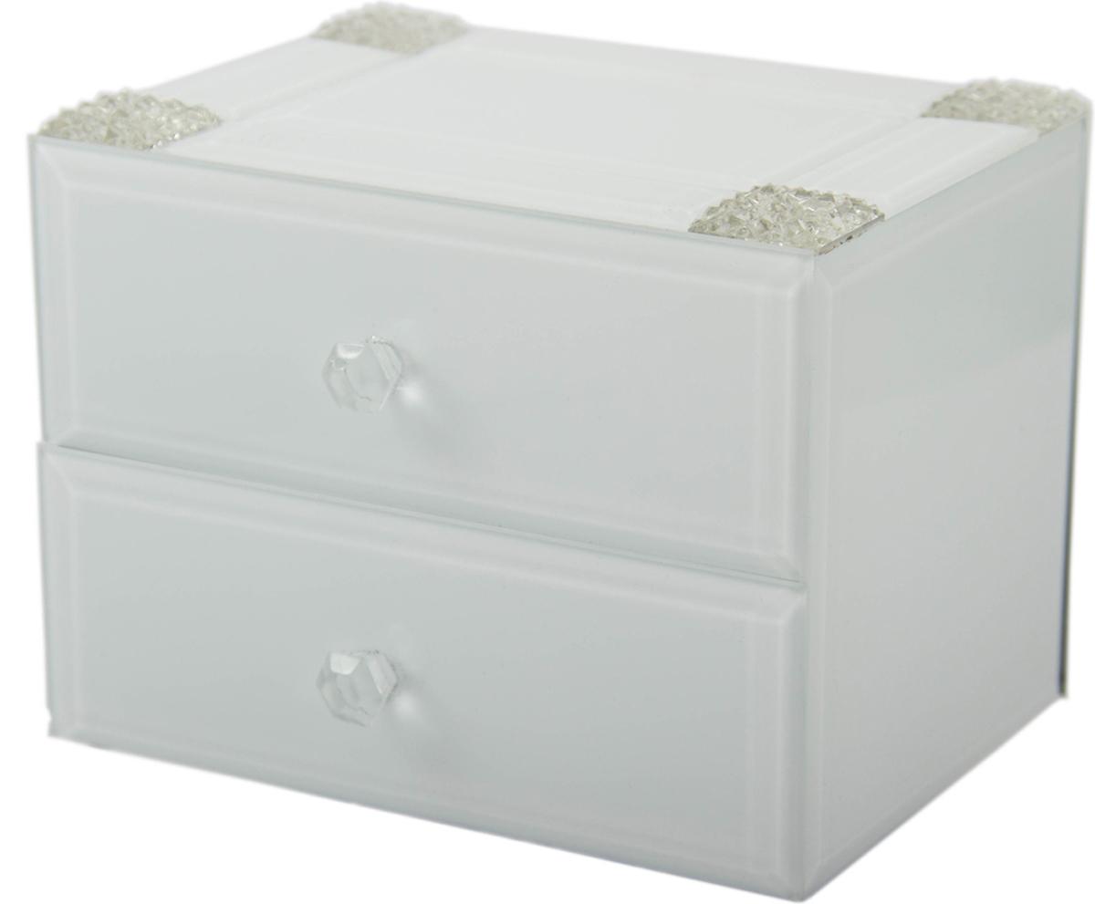 Шкатулка для украшений, цвет: белый, 16 х 12 х 12 см. 79202