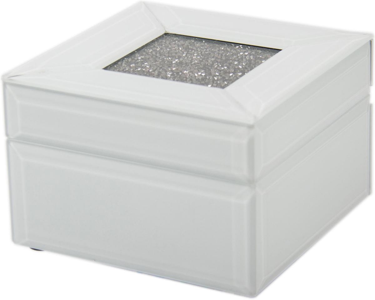 Шкатулка для украшений, цвет: белый, 13 х 13 х 8 см. 79207