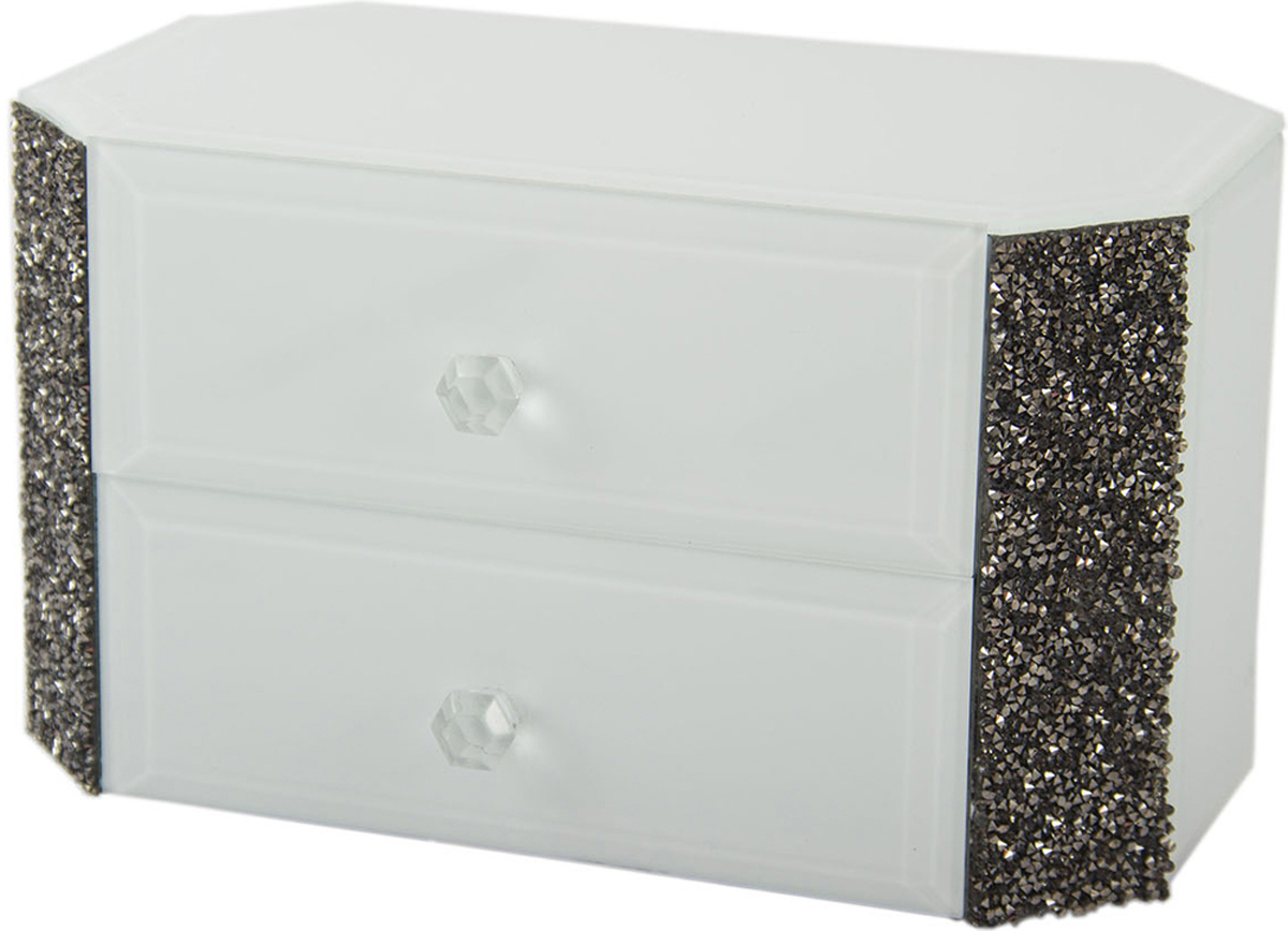 Шкатулка для украшений, цвет: белый, 25 х 17 х 8 см. 79210