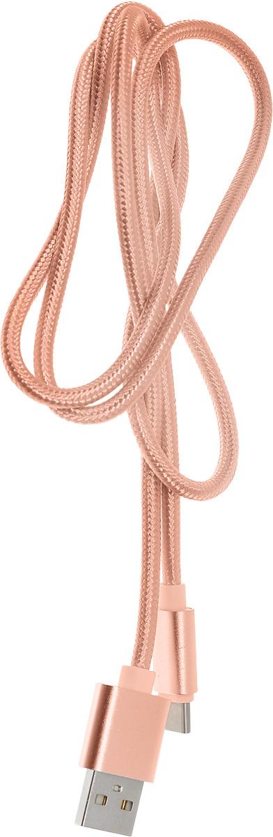 Red Line дата-кабель USB-Type-C 2.0, Pink (нейлоновая оплетка) дата кабель red line smart high speed usb type c синий