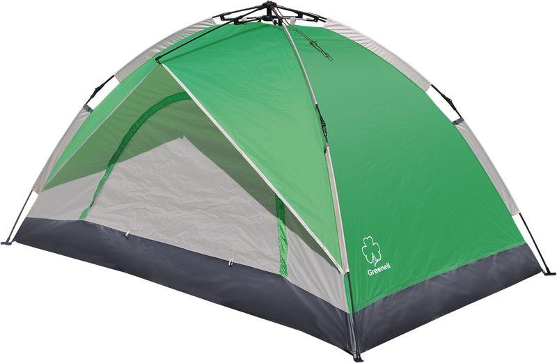 Палатка Greenell Коул 2, цвет: зеленый, светло-серый