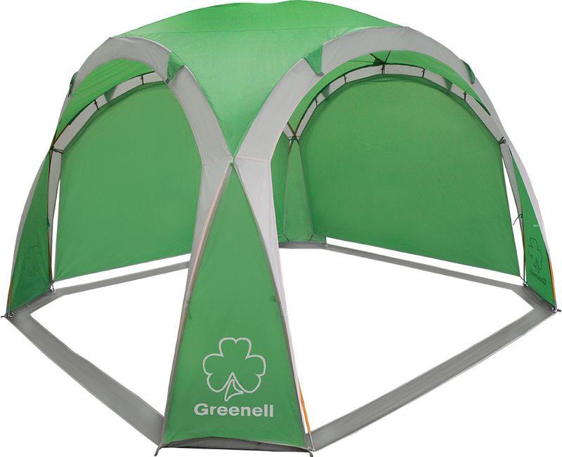 Тент Greenell Пергола, цвет: зеленый, светло-серый палатка greenell виржиния 6 плюс green