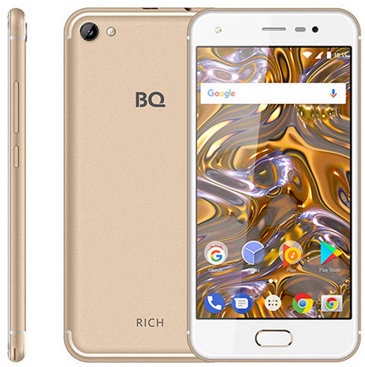 Смартфон BQ Mobile 5012L Rich 8 GB, золотистый закаленное стекло с цветной рамкой fullscreen для xiaomi mi 5x df xicolor 16 black
