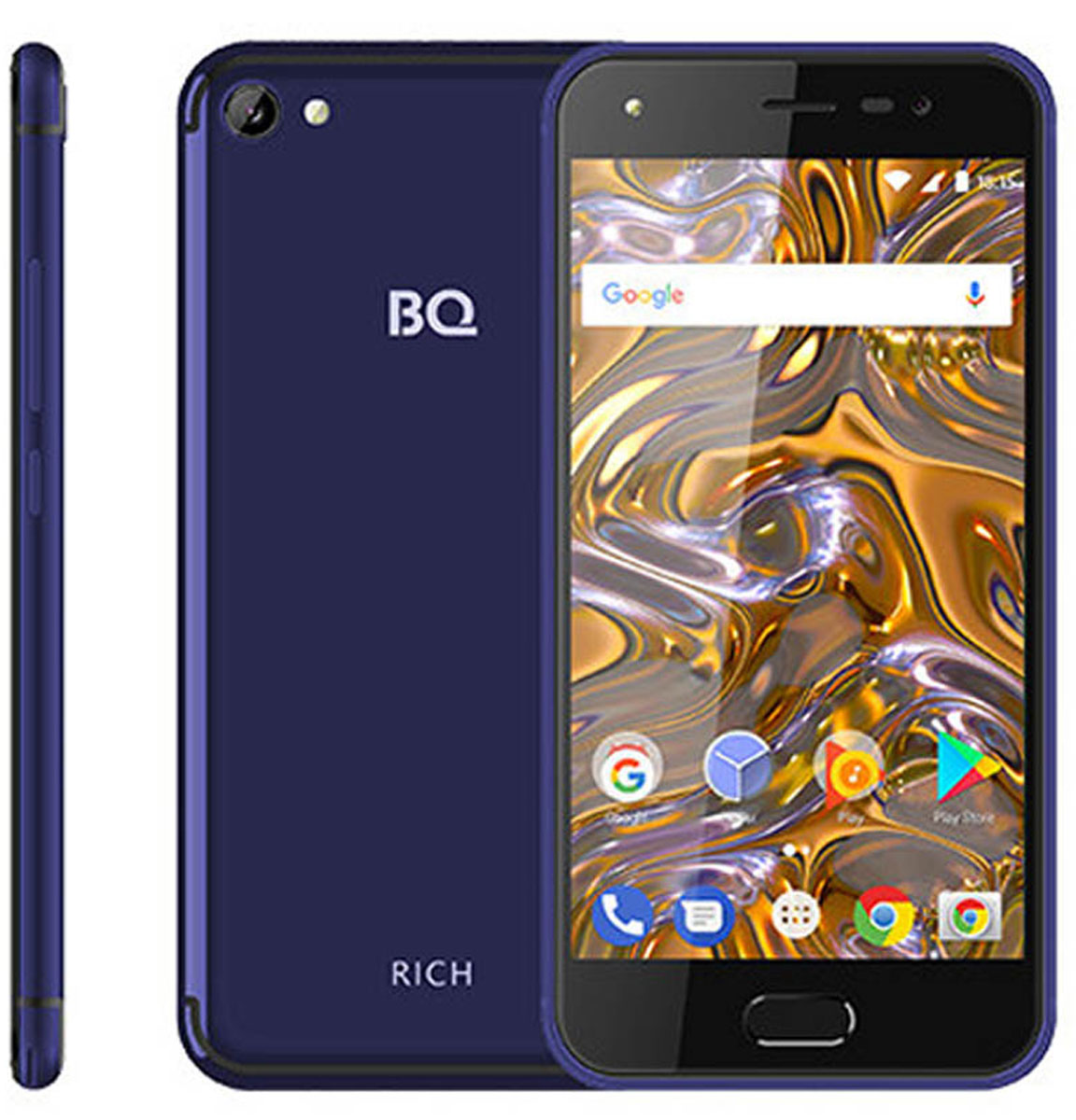 Смартфон BQ Mobile 5012L Rich 1/8GB, темно-синий смартфон bq bq 5012l rich lte black