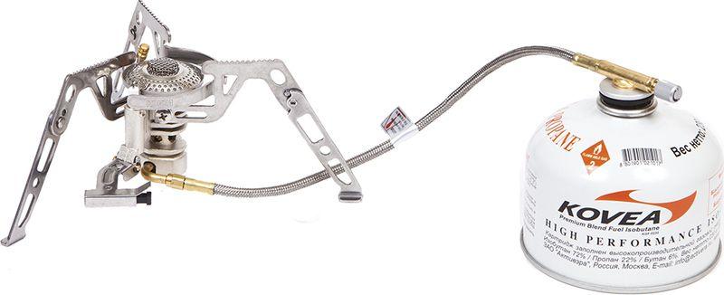 Горелка газовая со шлангом Kovea КВ-0211-L-(КВ-0211-000-00), цвет: серый металлик цена