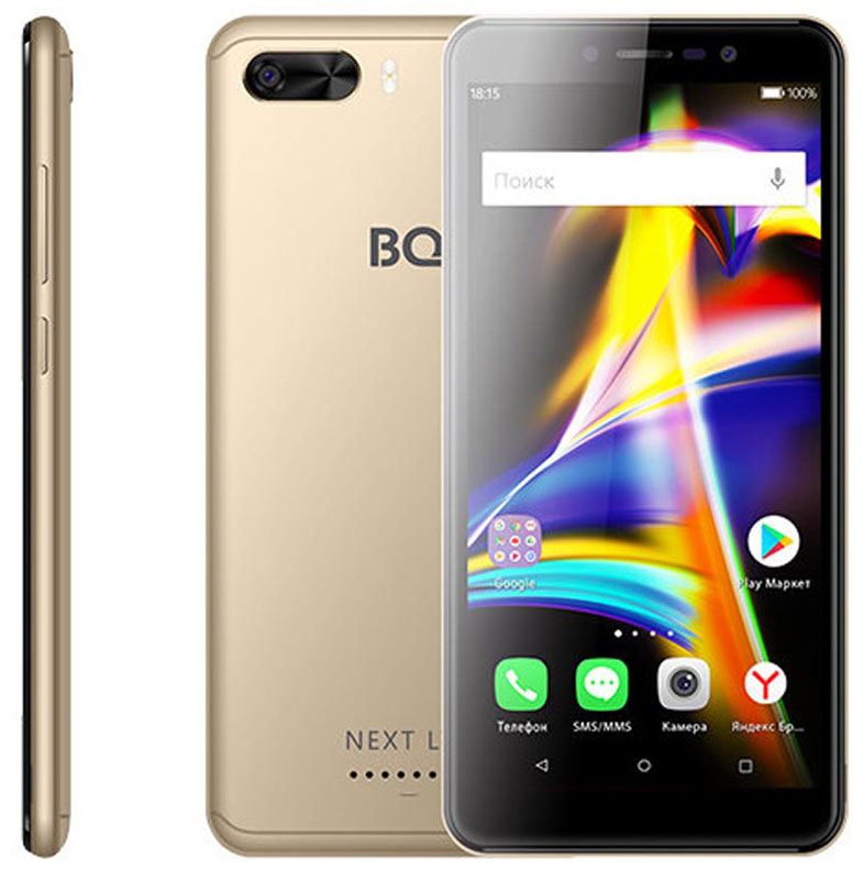 Смартфон BQ 5508L Next LTE 1/8GB gold цена