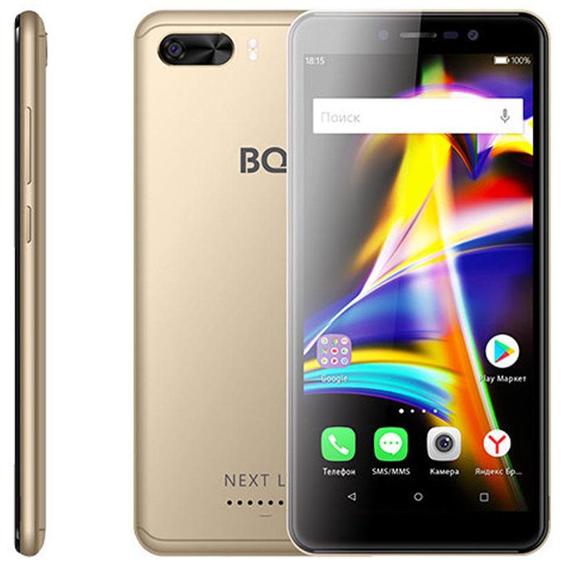 Смартфон BQ 5508L Next LTE 1/8GB gold защитное стекло bq для телефона bq 5508l next lte