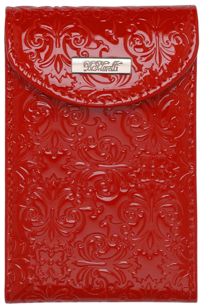 Визитница женская D. Morelli Барокко, цвет: красный. DM-WZ15-NK07 цена