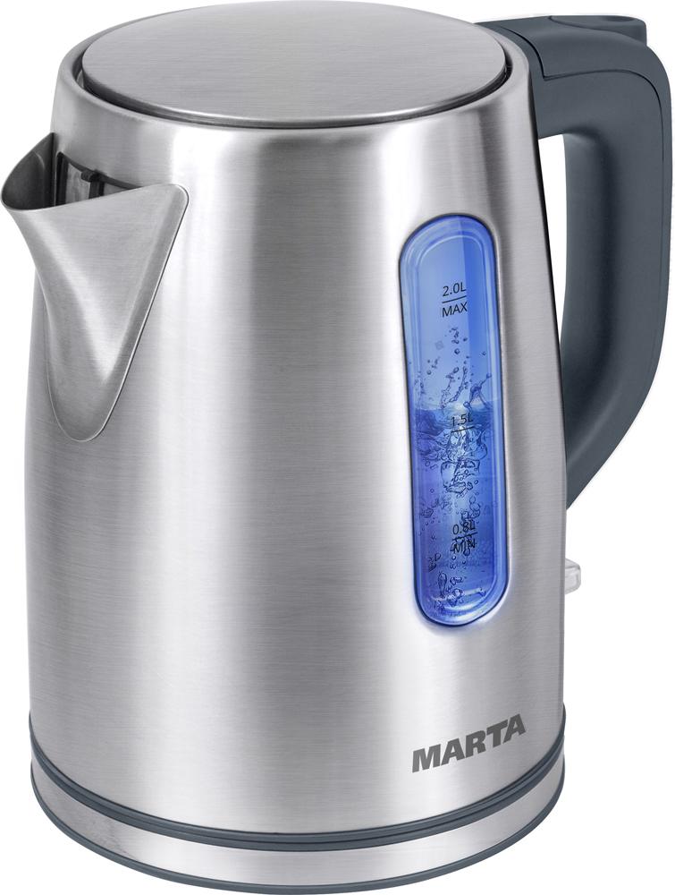 лучшая цена Электрический чайник Marta MT-1093, Gray Pearl