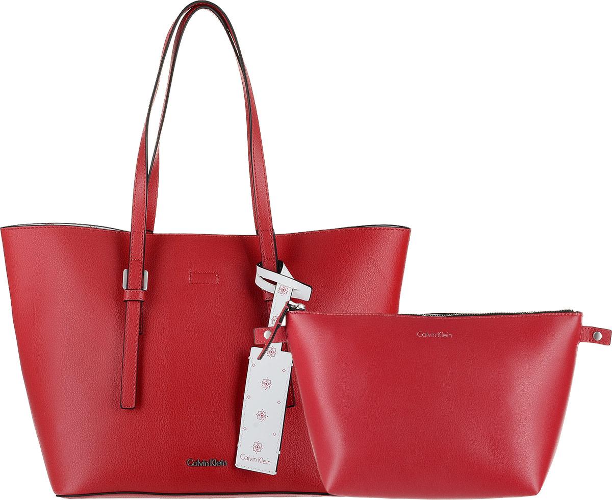 Сумка женская Calvin Klein Jeans, цвет: красный. K60K604000/908 блузка женская calvin klein jeans цвет синий j20j207813 4040 размер s 42 44