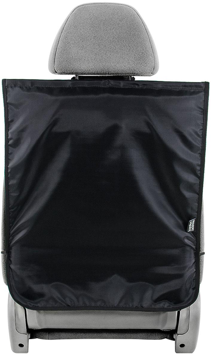 Накидка защитная Comfort Address на спинку сиденья, цвет: черный, 49 х 60 см накидка защитная в багажник comfort address daf 022 black