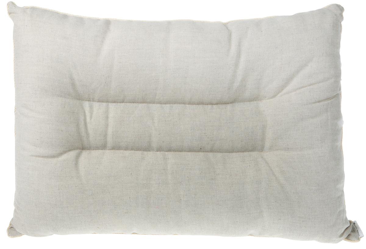 Подушка ортопедическая Bio-Textiles Магия солнца Naturel, наполнитель: искусственный лебяжий пух, цвет: бежевый, 50 х 70 см. АМ513
