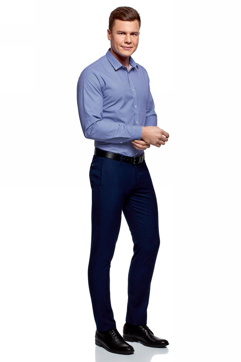 какую рубашку подобрать к синим брюкам фото стало